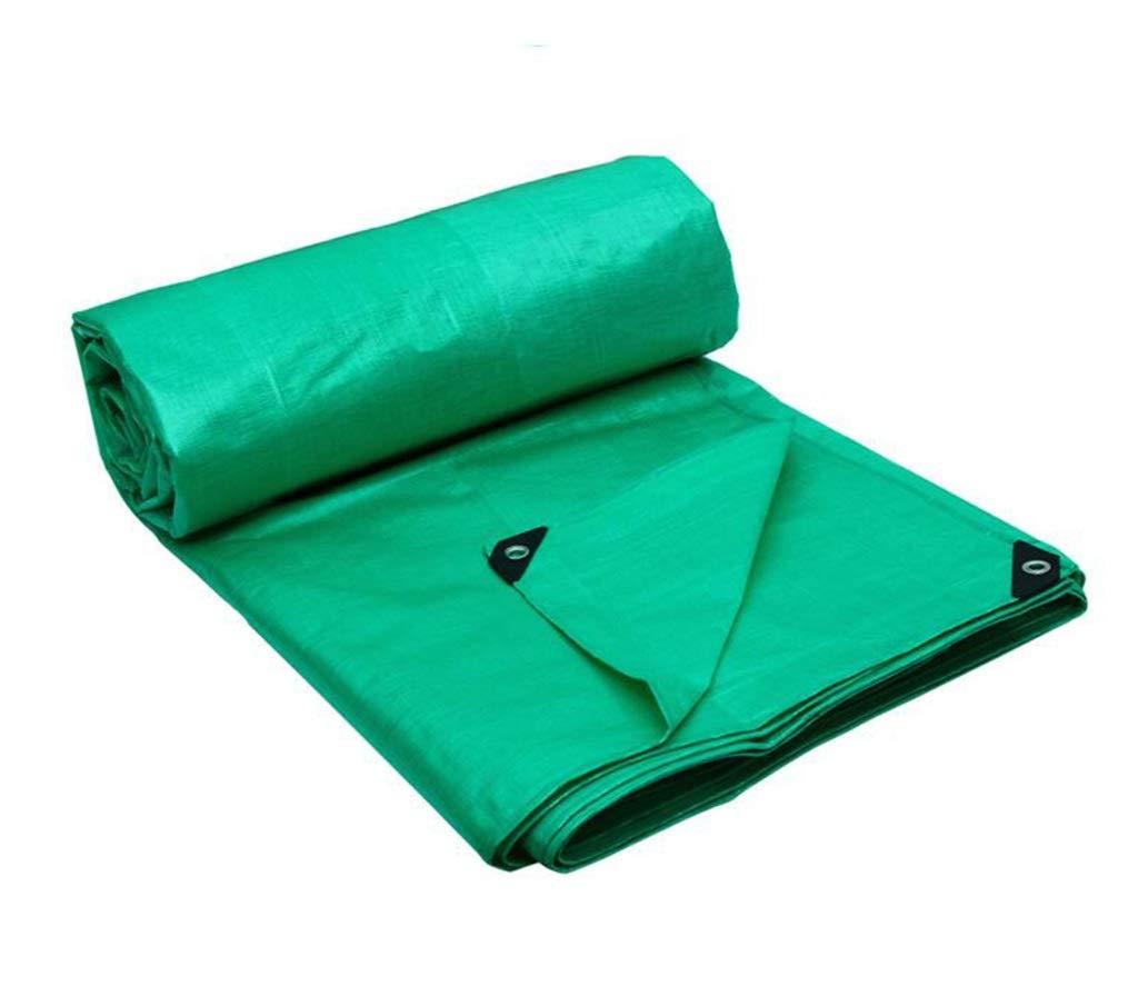 PE大型ターポリン両面防水ヘビーデューティー屋外サンシェードレインサンスクリーン防風トラックカバーカーゴクロスオレンジブルーとグリーン (色 : Green, サイズ さいず : 4X3M) 4X3M Green B07GXNZ151