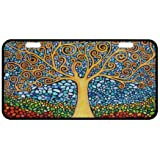 """Awesome Tree of Life Novelty License Plate Decorative Front Plate 6.1"""" X 11.8"""""""