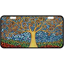 "Awesome Tree of Life Novelty License Plate Decorative Front Plate 6.1"" X 11.8"""