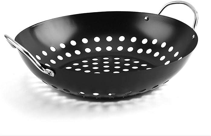 Parrilla Pan Cocina Casera con Mango Plato De Barbacoa ...