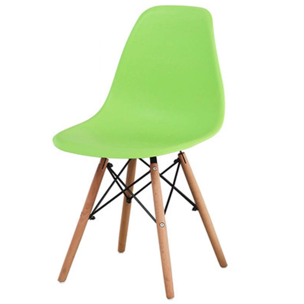 ch-AIR Armchairs Chair Nordic Office Chair Solid Wood Dining Chair Plastic Coffee Chair Cosmetic Armchair Computer Chair Furniture Gift (Color : Green, Size : 454084cm)