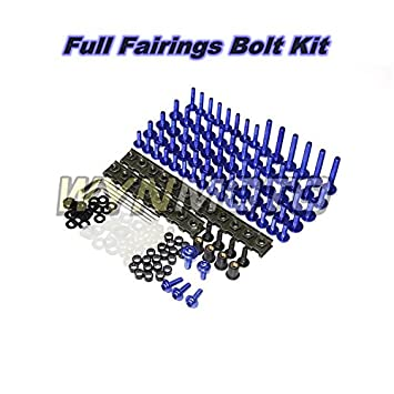 Gold WYNMOTO US Stock Complete Motorcycle Fairings Aluminum Fasteners Bolt Kit For Yamaha R1 YZF1000 R1 2009 2010 2011 New Body Screws Hardware Clips