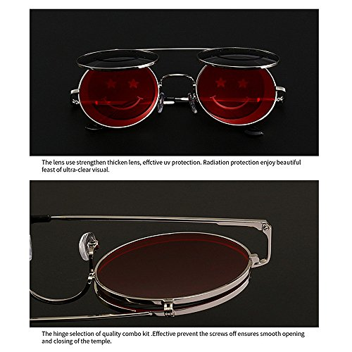 para Estilo Conducir Steampunk Mujer Gu UV Peggy de C6 para Protección Vacaciones Color abatibles C3 Playa Sol Verano Gafas 0RgEwExS