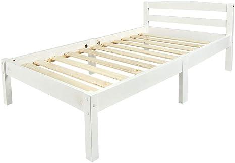 leomark classic lit simple en bois lit pour enfants en bois blanc confortable et solide lit pour enfants le cadre en bois massif zone de couchage