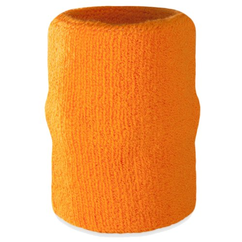 Suddora Arm Sweatband - Athletic Cotton Armband for Sports (Orange)