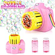Betheaces Bubble Machine Toys for Kids Toddlers Boys Girls, Automatic Bubble Blower with Bubble Solution Porta