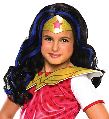 Halloween Wigs Dc (Rubie's Costume Girls DC Super Hero Wonder Woman)