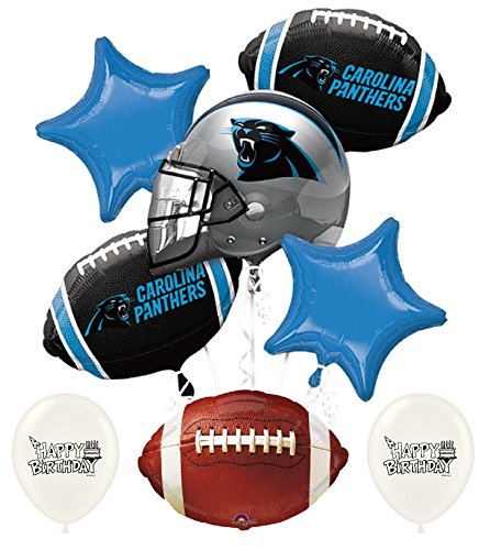 NFL Football NFC Teams Party Balloon Bouquet Bundle with Team Option (Carolina Panthers)