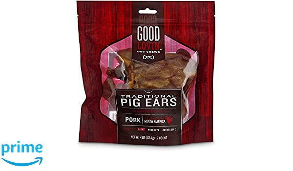 Amazon.com : Good Lovin Pig Ear Dog Chew, Pack of 7, 4 OZ : Pet Supplies