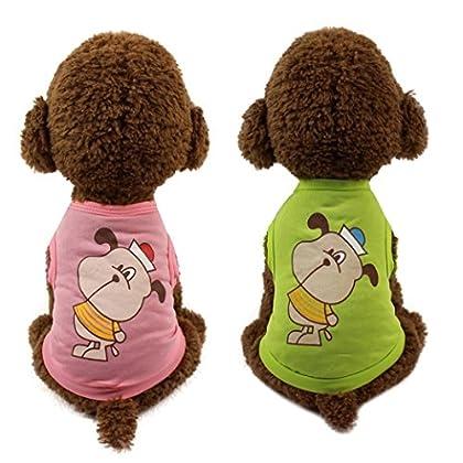 dc724f517 Han Shi Pet Clothes,Hot Sale Soft Cute Dog Cat T-shirt Small Puppy Costume  Jumpsuits (Green, XXS)
