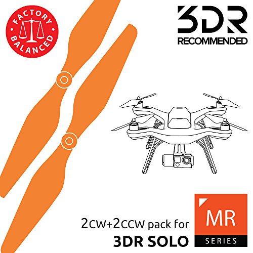 - Master Airscrew MAS Propellers for 3DR Solo in Orange - x4 in Set