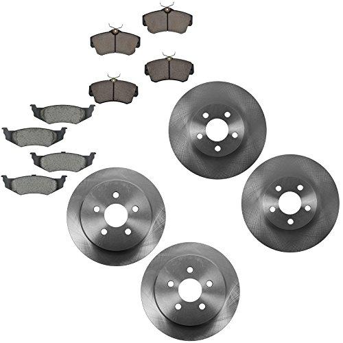 - Front & Rear Ceramic Brake Pad & Rotor Kit for Chrysler PT Cruiser