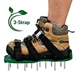 Lawn Aerator Shoes - Best Lawn Spike Aeration Shoes - Dense And Deep Spikes for Effective Soil Aeration - Each Shoe with 3 Durable Straps and Metal Buckles - A Small Wrench as Free Bonus