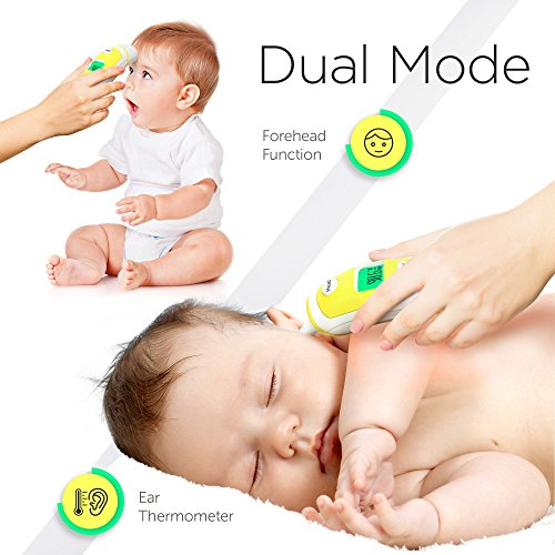 Forehead and Ear Thermometer for Baby, Kids and Adults - Digital Medical Infrared Thermometer for Body with Fever Indicator by ChadoDK (Image #5)