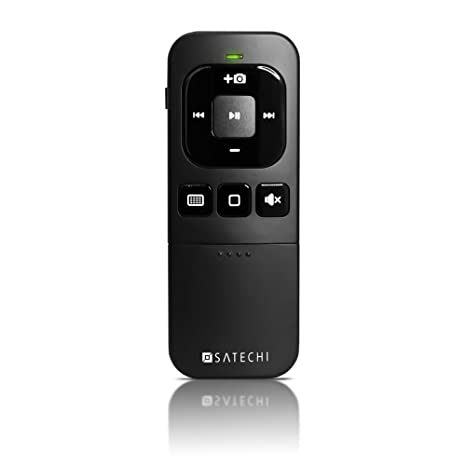Satechi Bluetooth Multi-Media Remote Control - Compatible with 2017/2018  MacBook Pro, iPhone Xs Max/XS/XR/X, 8 Plus/8, iPad Pro, Samsung S9 Plus/S9