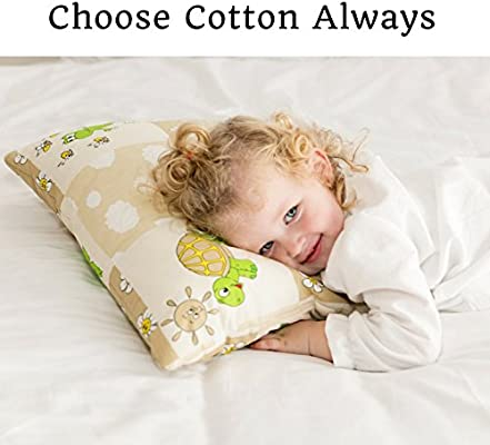 Beige Elephants Toddler Pillowcase 13x18 by Comfy Turtles or Get a Smile from a Kid with Cute Animals of this Soft Pillow Cover for Boys and Girls 100 Natural Cotton
