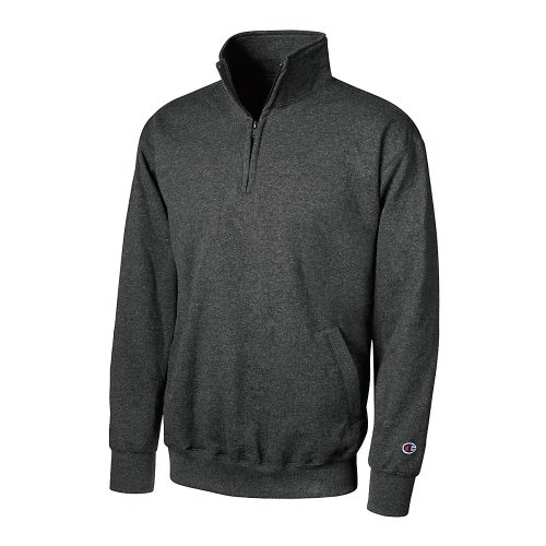 Champion Men's Eco Fleece 1/4 Zip Sweatshirt_Charcoal Heather_XXX-Large ()