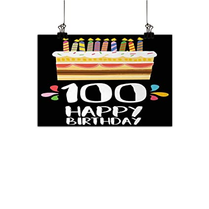 Anzhutwelve 100th Birthday Light Luxury American Oil Painting Old Legacy 100 Party Cake Candles On