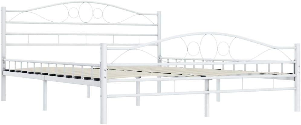 Metall Wei/ß 140/×200 cm//180/×200 cm Tidyard Metallbett Doppelbett Bettgestell mit Lattenroste