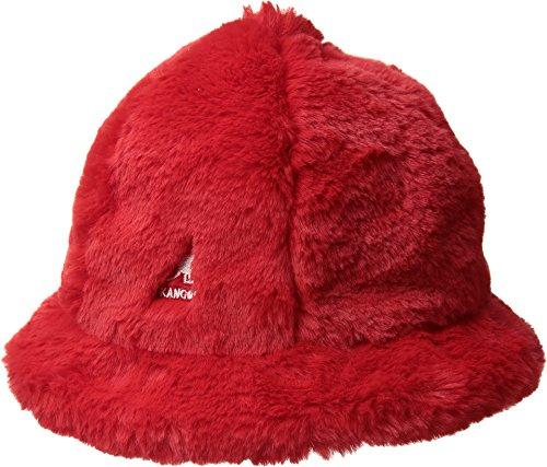 Kangol Men's Faux Fur Casual Cap, Scarlet, S
