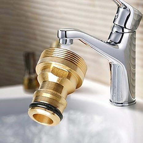 connettori per tubo da giardino per tubo dellacqua a rubinetto adattatore filettato in ottone massiccio lavatrice da giardino 3pcs Doolland