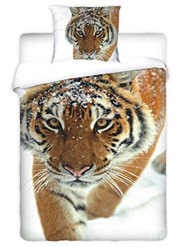 Jerry Fabrics Jf0046 Bettwäscheset Tiger 1x Bettdecke Mit