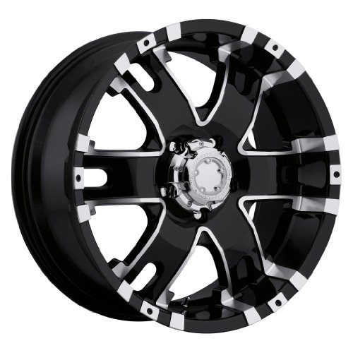 Ultra Wheel 202B Baron Matte Black Wheel with Painted (17 x 9. inches /5 x 127 mm, 12 mm Offset)