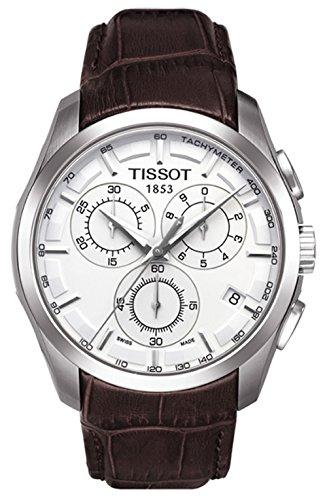Tissot Men's Couturier T035.617.16.031.00 Silver Leather Swiss Quartz Watch