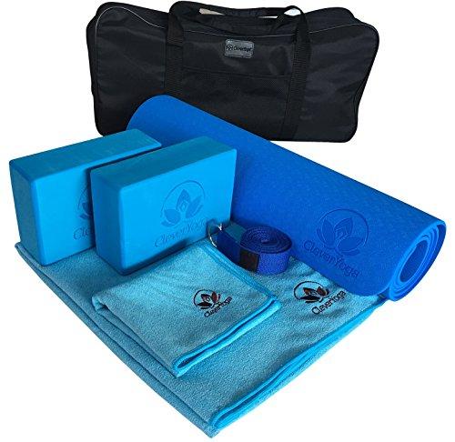 Yoga Set Kit 7-Piece 1 Yoga Mat, Yoga Mat Towel, 2 Yoga Blocks, Yoga Strap, Yoga Hand Towel, Free Carry Case – Perfect Yoga Gift for Exercises Yogis and Seniors Review