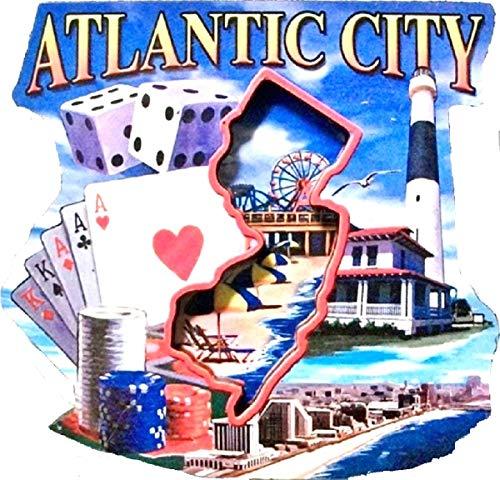 Atlantic City New Jersey Montage Artwood Fridge Magnet ()