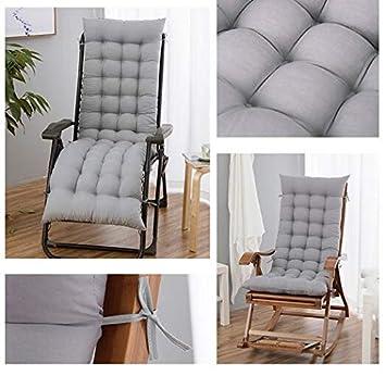 Blu Chiaro 8cm AGDLLYD Cuscino Poltrona Sdraio Relax Cuscino Imbottito per Sedia a Sdraio Cuscino Panca,170 48