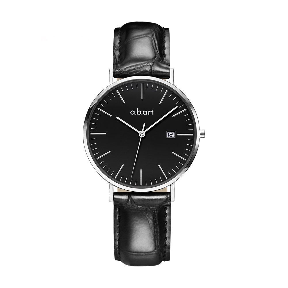 a.b.art Wrist Watches FB36-135-23L Women Silver Movement Black Dial (Black Silver) by a.b.art