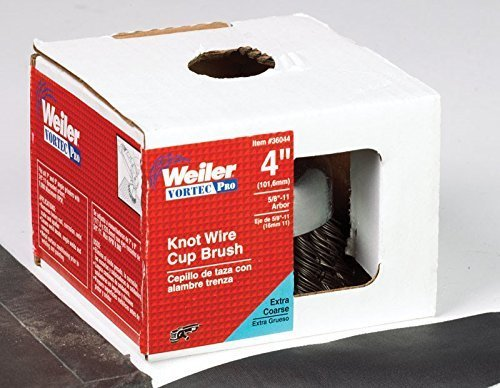 "Weiler Cup Brush 9000 Rpm Extra Coarse 5/8 "" -11 Arbor"