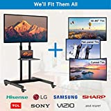 Mobile TV Stand on Wheels for 32-60 Inch