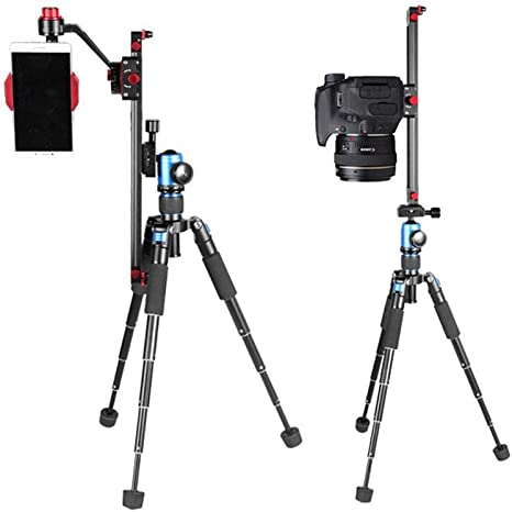 KOBWA Mini cámara/teléfono Pista Dolly Rail Slider, 35 centímetros ...
