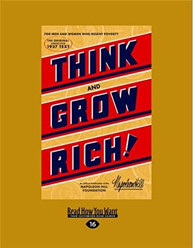 Download Think and Grow Rich: The Original, an Official Publication of The Napoleon Hill Foundation pdf epub