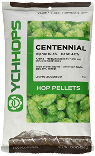 Home Brew Ohio B007PIX32M FBA_Does Not Apply US Centennial 1 Lb. Hop Pellets for Home Brewing Beer Making, Green