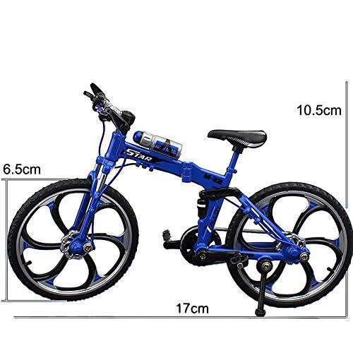 [해외]LONG YU Boys 110 Proportional Zinc Alloy Model Foldable Finger Mountain Mini Bike Racing Model Cool Toy Home Decoration Handicraft (Blue) / LONG YU Boys 110 Proportional Zinc Alloy Model Foldable Finger Mountain Mini Bike Racing Mo...