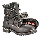 Milwaukee Leather Diamond Men's 6' Twin Zipper Lock Riding Boots (Black, Size 11)