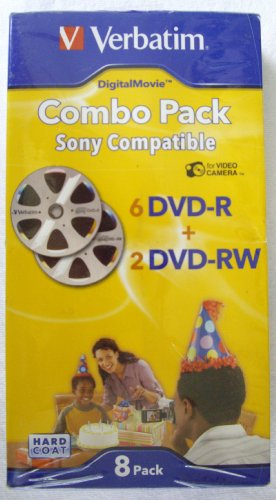 Verbatim Digital Movie 8 Piece Combo Pack - 6 Mini DVD-R + 2