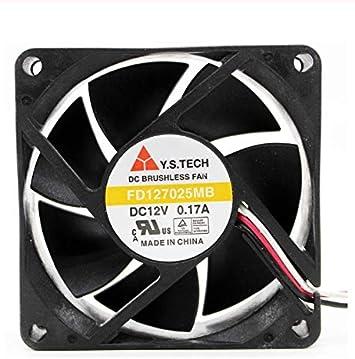Ayazscmbs Compatible para FD127025MB 8cm 8025 80mm Ventilador 12V ...