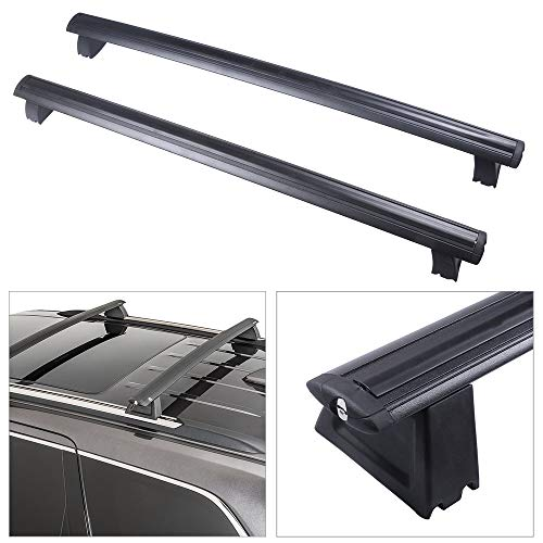 cciyu Universal Aluminum Roof Rack Cross Bar Car Top Luggage Carrier Rails Fit for 2011-2018 Jeep Grand Cherokee Sport Utility 4-Door 3.0L 3.6L 5.7L 6.2L(Only Fits with OEM Roof Rails)