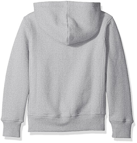 Scout + Ro Big Boys' Basic Fleece Hooded Jacket, Grey Heather, 14 by Scout + Ro (Image #5)