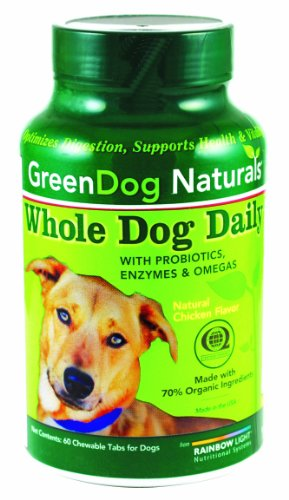 GreenDog Naturals Whole Dog Daily,  60 Chewable Tablets, My Pet Supplies