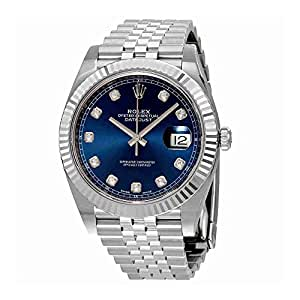 Rolex Datejust Blue Diamond Dial Automatic Mens Jubilee Watch 126334BLDJ