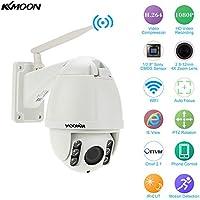 KKmoon 4 H.264 HD 1080P 2.8-12mm Auto-focus PTZ Wireless WiFi IP Camera Security CCTV Camera Home Surveillance