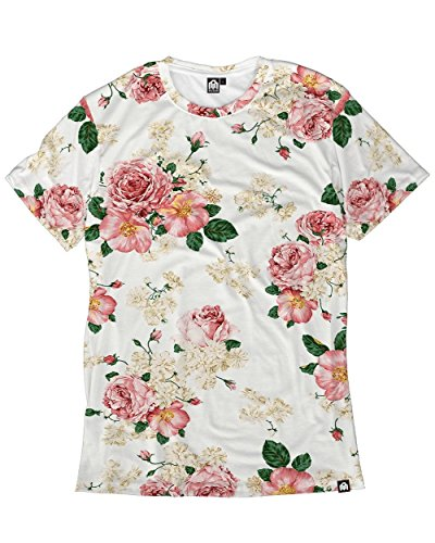 INTO THE AM Da Vinci Roses Men's Casual Tee Shirt -