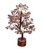 Crocon Natural Healing Gemstone Crystal Bonsai Fortune Money Tree for Good Luck, Wealth & Prosperity Spiritual Gift Size 10-12 Inch