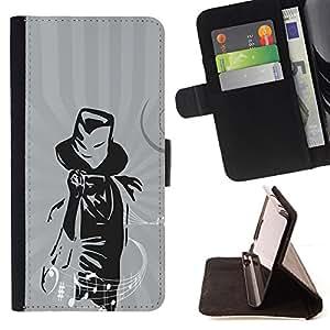 - xxxx - - Prima caja de la PU billetera de cuero con ranuras para tarjetas, efectivo desmontable correa para l Funny HouseFOR Sony Xperia Z1 Compact D5503