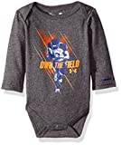 Under Armour Baby' Long Sleeve Bodysuit, Charcoal Gray Heather, 0-3 Months